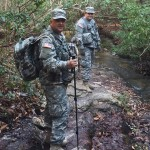 2LT Ted Burzynski and SPC Kerry Hatcher conduct a Search and Rescue task.
