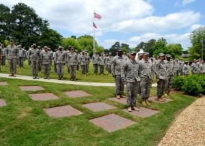 Members of the Georgia Army National Guard, Air National Guard, and State Defense Force participate in the Memorial Day ceremony. Photo by Master Sgt. Mark Woelzlein.