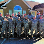 Soldiers from four different units of the Georgia State Defense Force worked together as a team during a successful Search and Rescue Mission.  Georgia State Defense Force Photo by Maj. Herbert Jones.