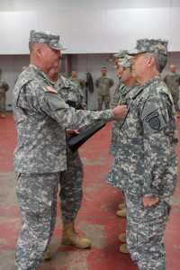 Capt Hill recieving rank