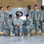 The newest Second Lieutenants and Warrant Officers of the Georgia State Defense Force with members of the Officer Candidate/Warrant Officer School Cadre following graduation at the Georgia Public Safety Training Center in Forsyth, Georgia on August 14, 2016. (Georgia State Defense Force photo by Pfc. Davidson)