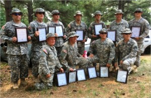 GEORGIA PUBLIC SAFETY TRAINING CENTER, Forsyth, Ga. — Graduates (11 of 12) of the SLC 2016-01  proudly display their certificates of course completion. Photo by Staff Sgt. Kara Kirby, Georgia State Defense Force